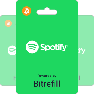Buy Spotify gift cards with Bitcoin