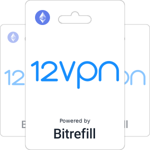 Buy 12vpn gift cards with Ethereum