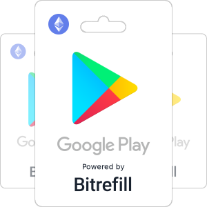 Buy Google Play gift cards with Ethereum
