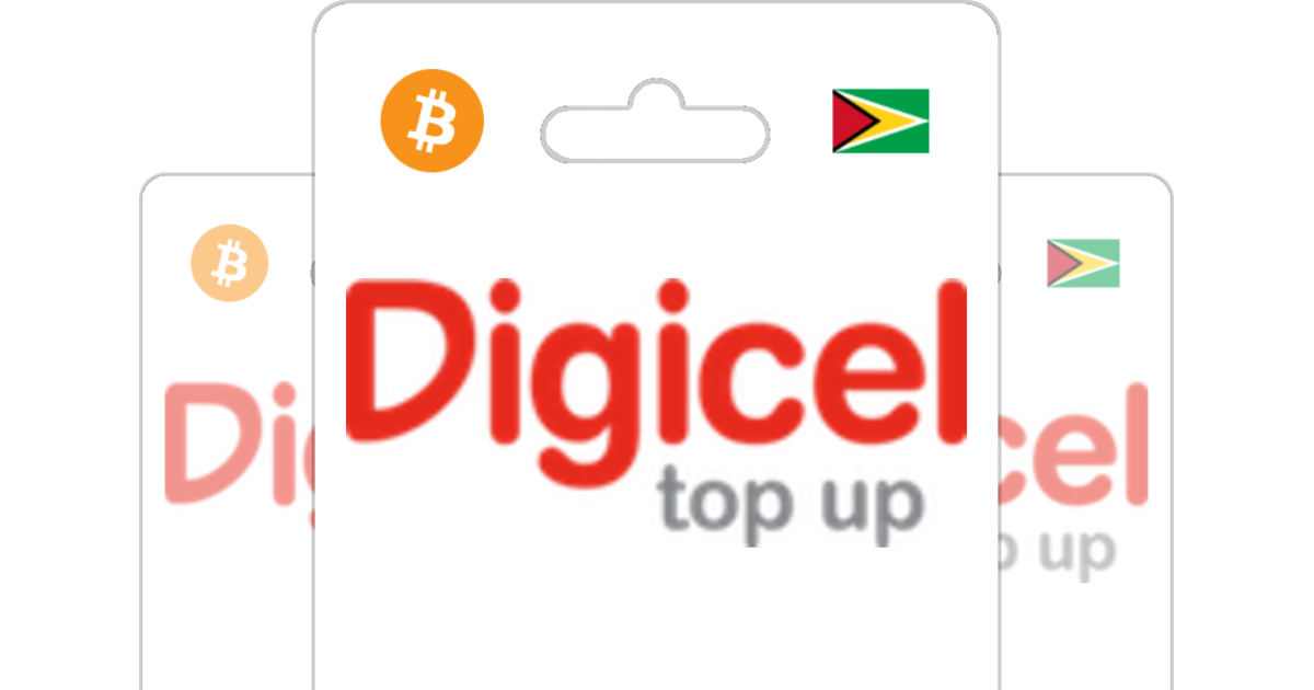 Digicel Guyana CAD Prepaid Top Up with Bitcoin